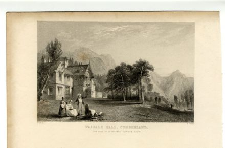 1835 Antique Print WASDALE HALL Cumbria STANSFELD RAWSON YHA